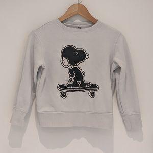 Uniqlo x Kaws x Peanuts Snoopy Sweater - Kids 9-10